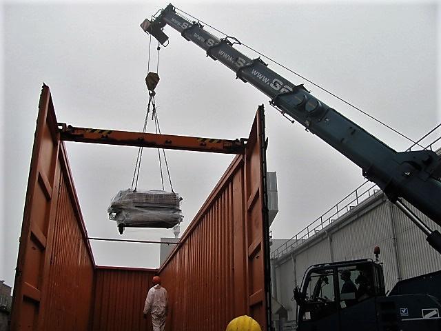 Maschinen Verladung und Transport